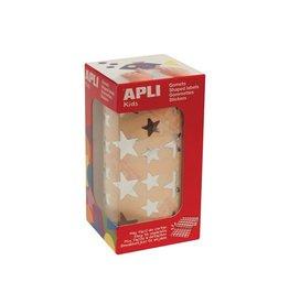 Apli Kids Apli Kids stickers op rol, ster, 2360 stuks, metallic zilver