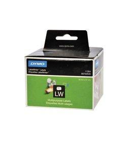 Dymo Dymo etik. LabelWriter 57x32mm verwijderbaar wit, 1000 etik.