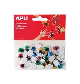 Apli Kids ApliKids knutseloogjes zelfklevend gekleurd ovaal 40 stuks