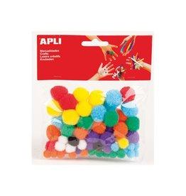 Apli Kids Apli gekleurde pompons, pak van 78 stuks