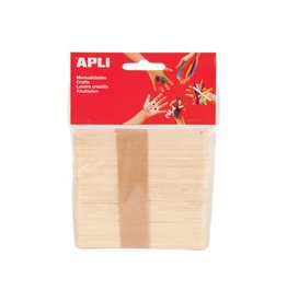 Apli Kids Apli houten sticks, blister met 50 stuks
