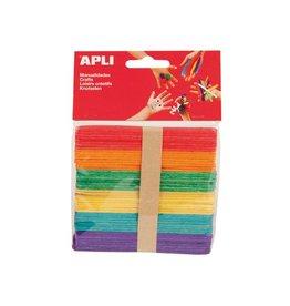 Apli Kids Apli Kids gekleurde houten sticks, pak van 50 stuks ass