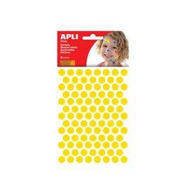 Apli Kids Apli Kids stickers, cirkel diameter 10,5 mm, 528st, geel