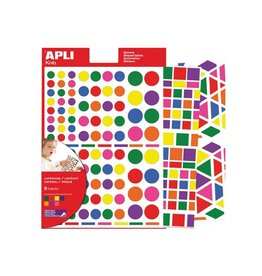 Apli Kids Apli verwijderbare stickers verschillende vormen, 664x