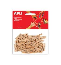 Apli Kids Apli mini wasknijper natuurlijk hout 45 stuks