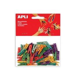 Apli Kids Apli mini wasknijper gekleurd hout 45 stuks