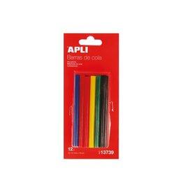 Apli Kids Apli gekleurde lijmpatronen 7,5 mm, blister met 12 stuks