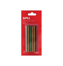 Apli Kids Apli glitter lijmpatronen 7,5 mm, blister met 12 stuks