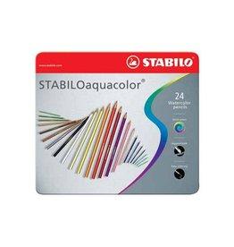 Stabilo Kleurpotloden Stabilo aquacolor 24st met
