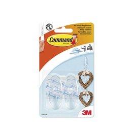 Command Command decohaak, medium, draagvermogen 900 gram, tran., 2st