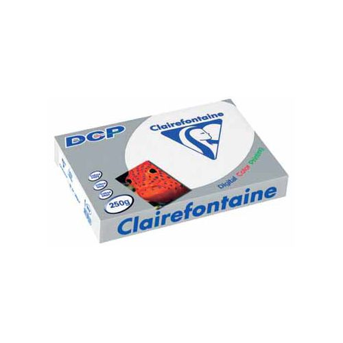 Laserpapier Clairefontaine DCP A4 250gr wit 125vel