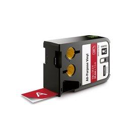 Dymo Dymo XTL tape ft 24 mm, wit op rood, vinyl