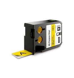 Dymo Dymo XTL tape ft 24 mm, zwart op geel, vinyl