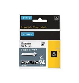 Dymo Dymo RHINO flexibele nylontape 12 mm, zwart op wit