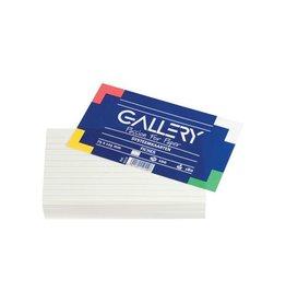Gallery Gallery witte systeemkaarten ft 7,5 x 12,5 cm, gelijnd