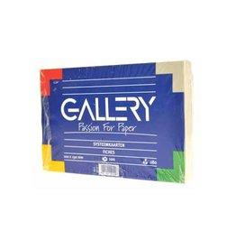 Gallery Gallery witte systeemkaarten ft 10 x 15 cm, effen