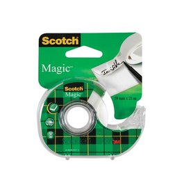 Scotch Scotch plakband Magic Tape ft 19 mm x 25 m, blister met disp