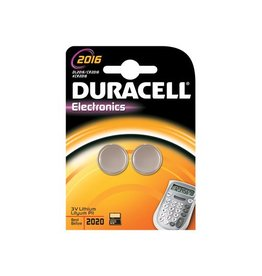 Duracell Duracell knoopcel Electronics CR2016, blister van 2 stuks