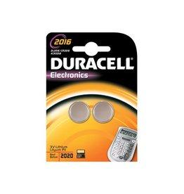 Duracell Duracell knoopcellen Alkaline Electronics CR2016, 3V, 2 stuk