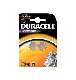 Duracell Duracell knoopcellen Alkaline Electronics CR2025, 3V, 2 stuk