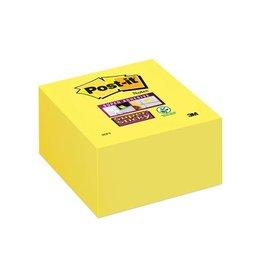 Post-it Post-it Super Sticky notes, 76x76mm,neongeel,blok van 350vel