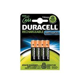 Duracell Batterij oplaadbaar Duracell aaa 800 4st