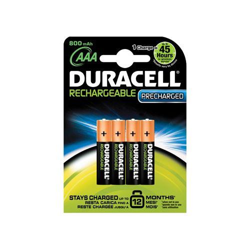 Duracell Rechargeable Type-AAA Minipenlite Batterij 2400 1,5volt 4st