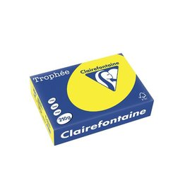 Clairefontaine Papier Clairefontaine Trophée Intens A4 zonnegeel, 210 g, 250 vel