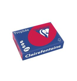 Clairefontaine Papier Clairefontaine Trophée Intens A4 kersenrood, 210 g, 250 vel