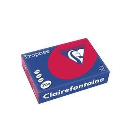 Clairefontaine Papier Papier Clairefontaine Trophée A4 210gr Kersenrood 250vel