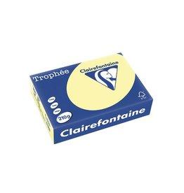 Clairefontaine Papier Clairefontaine Trophée Pastel A4 geel, 210 g, 250 vel