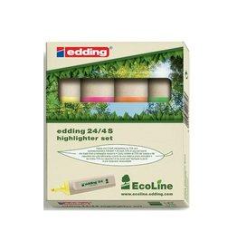 Edding Edding Markeerstift Ecoline e-24 etui van 4 stuks in geassor