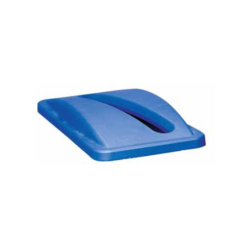 Rubbermaid commercial products Rubbermaid deksel voor afvalcontainer Slim Jim, blauw
