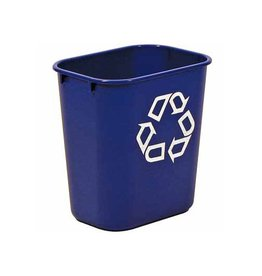 Rubbermaid commercial products Afvalbak vierkant blauw 26.6liter