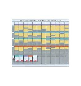 Nobo T-kaart planner Nobo 12 panelen 32 sleuv