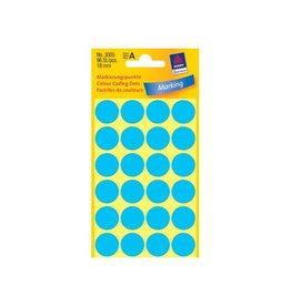 Avery Zweckform Etiket Avery zweck 3005 18mm blauw 96st