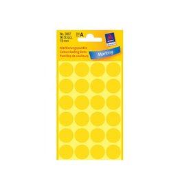 Avery Zweckform Avery Ronde etiketten diameter 18 mm, geel, 96 stuks