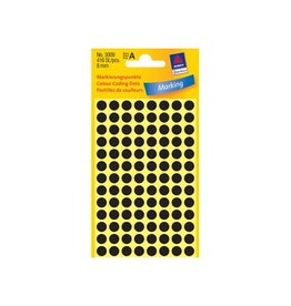 Avery Zweckform Avery Ronde etiketten diameter 8 mm, zwart, 416 stuks