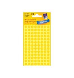 Avery Zweckform Avery Ronde etiketten diameter 8 mm, geel, 416 stuks