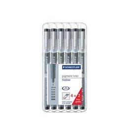 Staedtler Fineliner Staedtler pigment 308 set 4+2