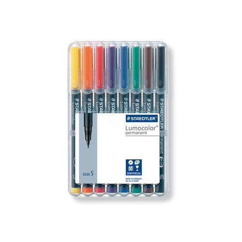 Viltstift Staedtler OHP Lumocolor SF313 8stuks assorti fijn