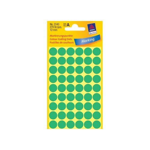 Avery Zweckform Etiket Avery zweck 3143 12mm groen 270st