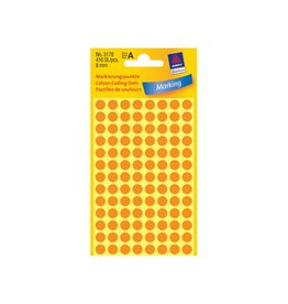 Avery Zweckform Etiket Avery zweck 3178 8mm oranje 416st [10st]