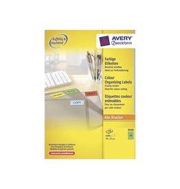 Avery Zweckform Etiket Avery zweck 3450 70x37mm groen 24