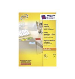 Avery Zweckform Avery Gekleurde universele etiketten70x37mm(bxh),2400st,geel