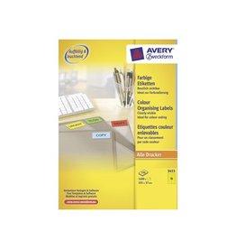Avery Zweckform Avery Gekleurde universele etiketten 105x37mm 1600st geel