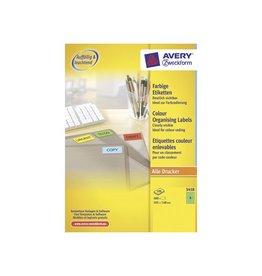 Avery Zweckform Etiket Avery zweck 3458 105x148mm groen
