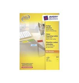 Avery Zweckform Avery gekleurde universele etiketten105x148mm 400st geel