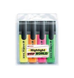 Edding Edding Markeerstift e-345 geassorteerde kleuren etui van 4 s