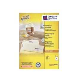 Avery Zweckform Avery witte etik. QuickPeel 70x37mm 2400st 24 per bl, 100 bl